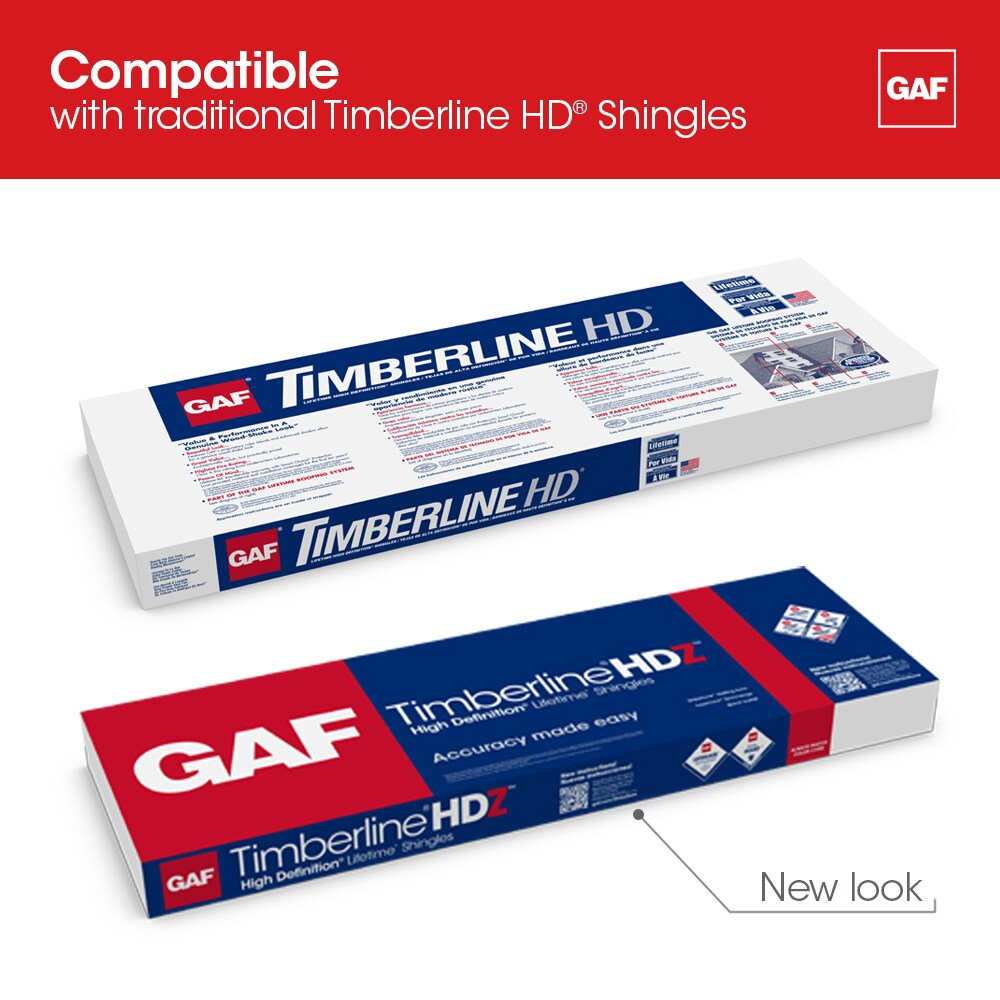 GAF timberline is compatible with traditional HD Shingles