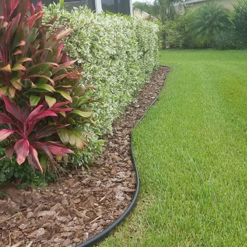 A perfectly maintained back yard area of a residence in Parrish, Fl.