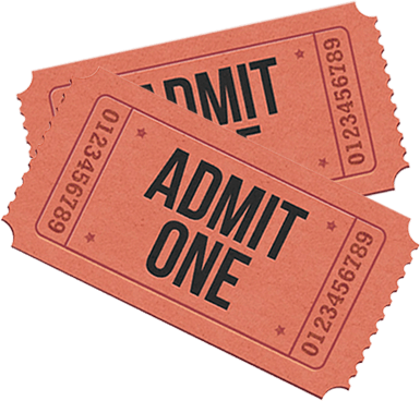 """Two vintage pink tickets that say """"Admit One"""""""