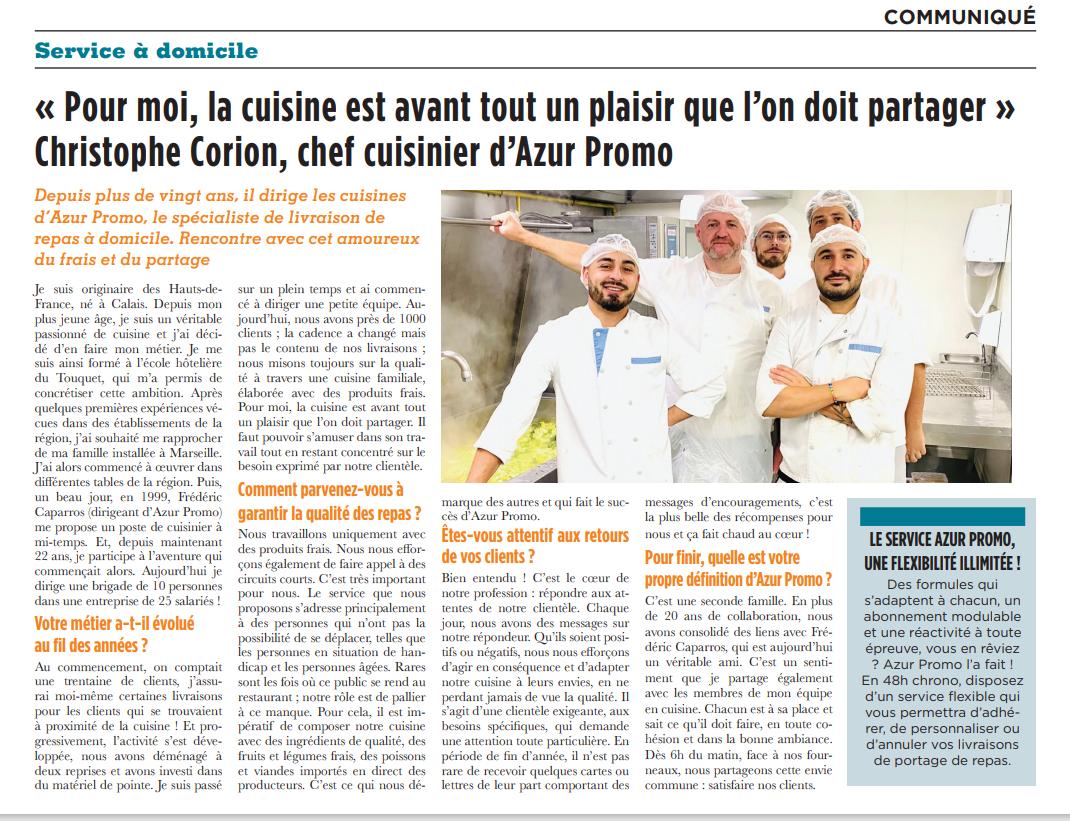 Notre cuisine mise à l'honneur sur @La Provence