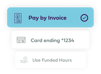 Payment method app UI component image.