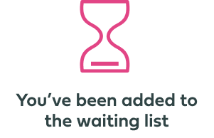 Added to waiting list UI component image.