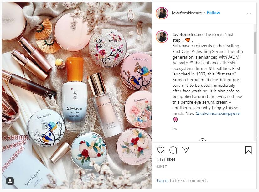 @loveforskincare instagram post