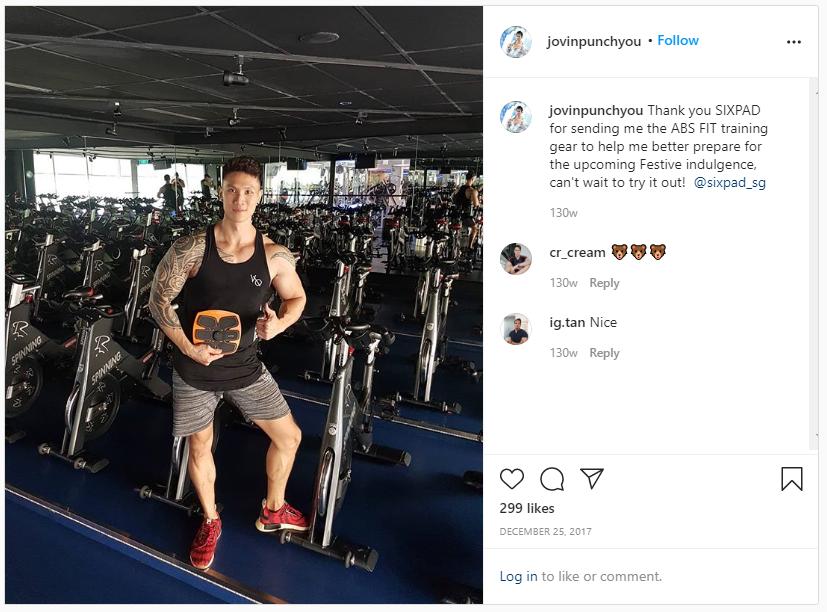 screenshot from jovin koh's instagram post