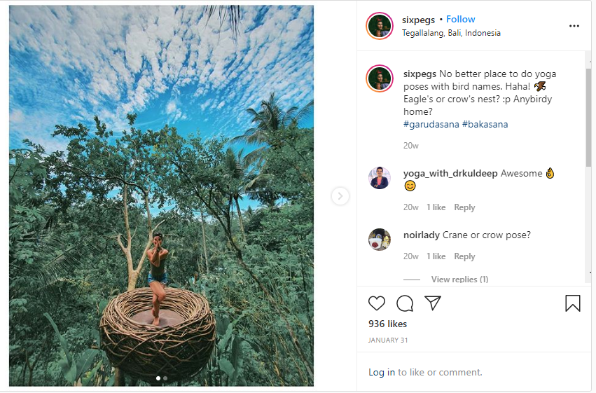 screenshot of one of peggy c's instagram posts