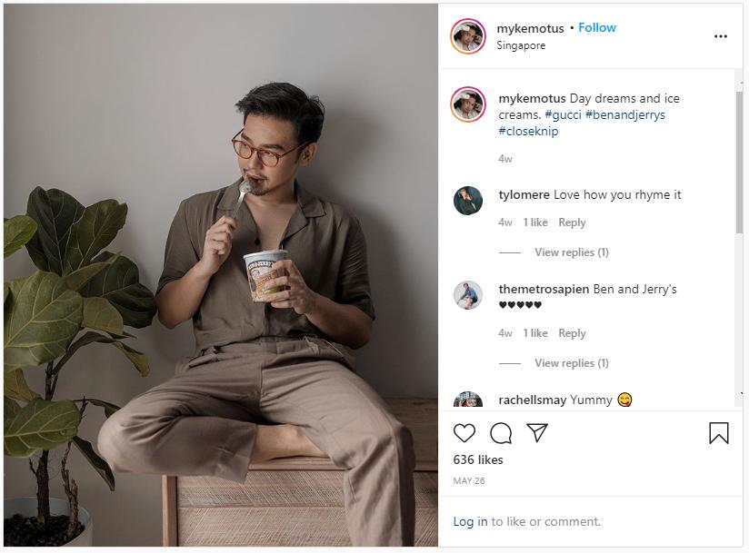 screenshot of one of myke motus' instagram posts