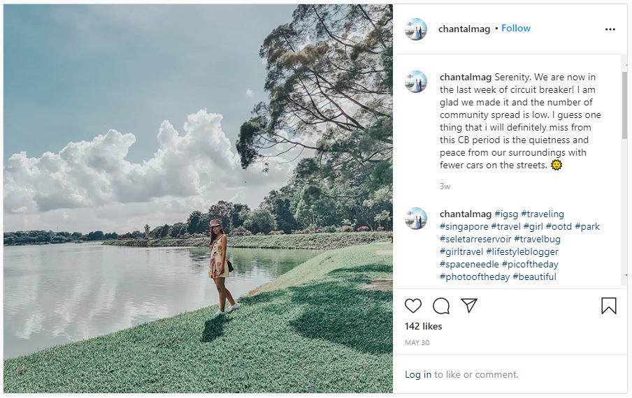 screenshot of one of magdalene tan's instagram posts