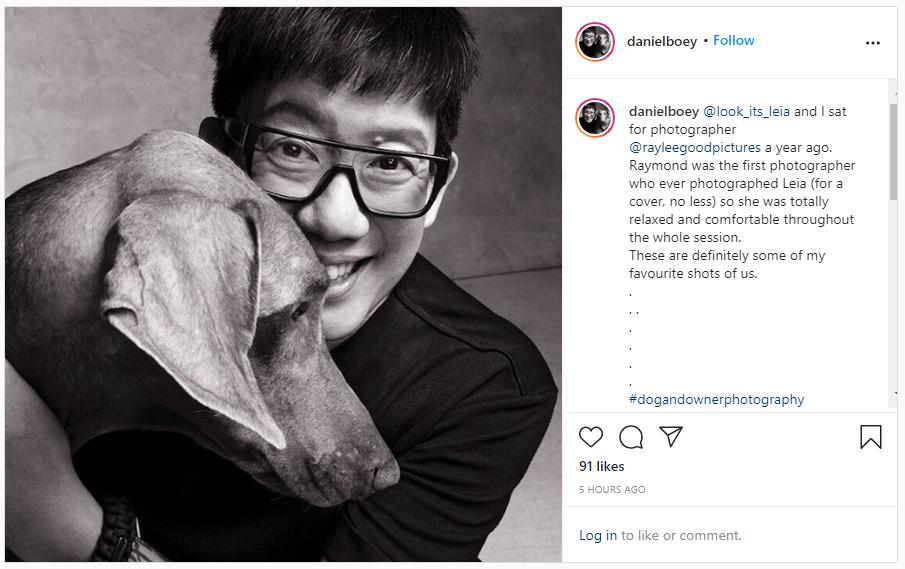 screenshot of one of daniel boey's instagram posts
