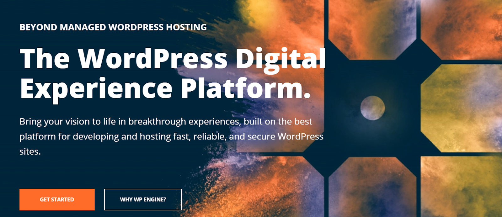 screenshot of wpengine hosting platform
