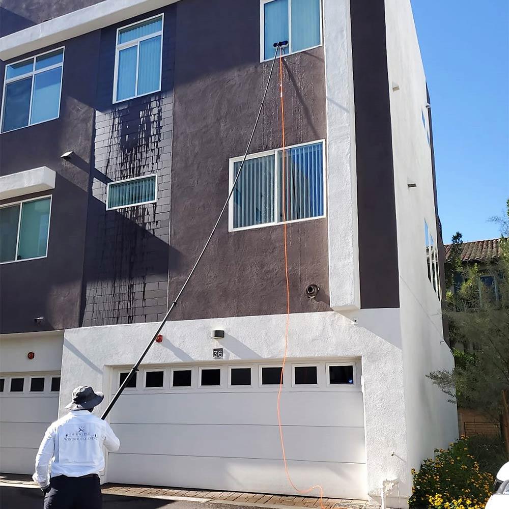 Water fed window cleaning in Phoenix, AZ
