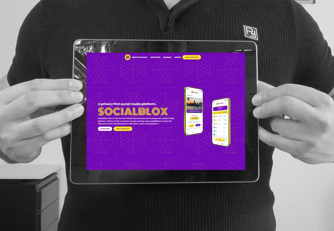 Afbeelding van de SocialBlox website die is gemaakt voor DHEVAK.