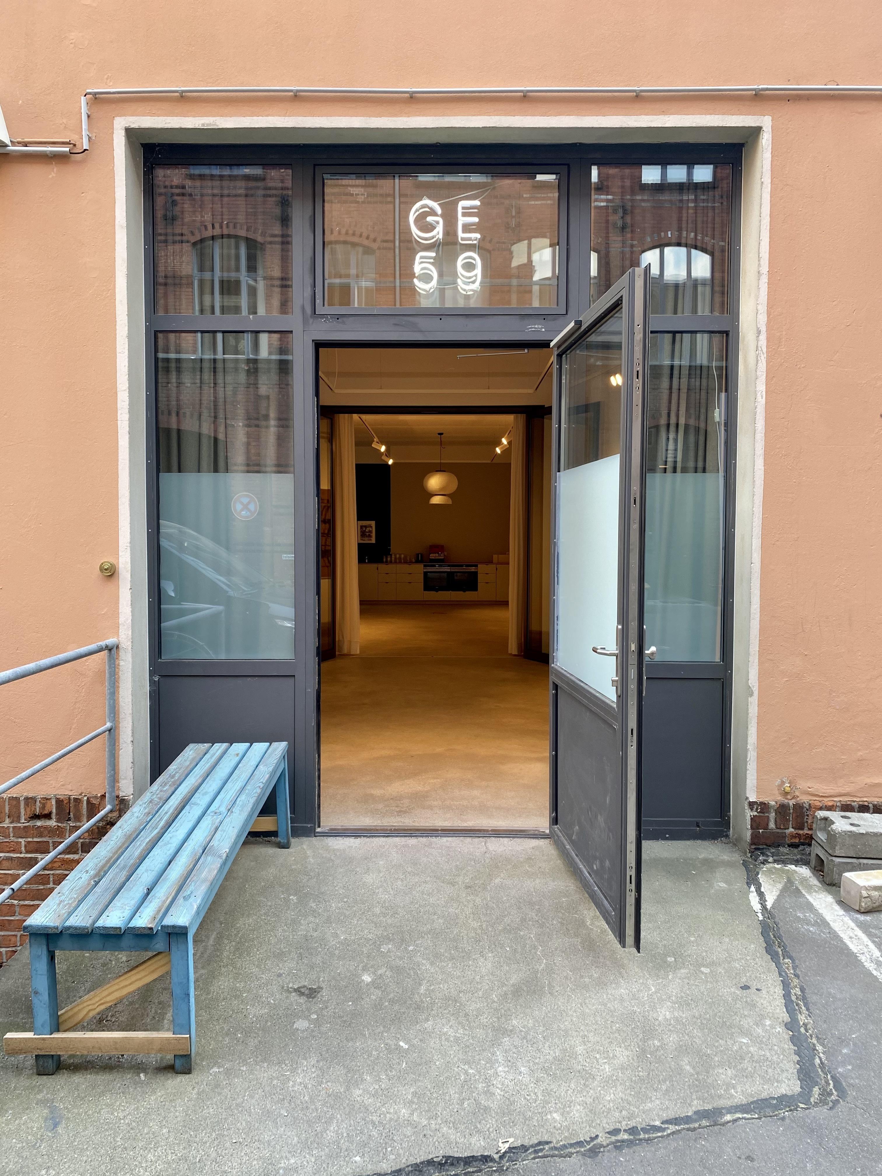 Außenansicht des Eingangs zur Galerie GE59