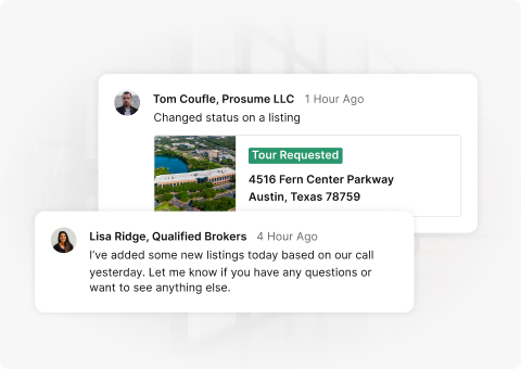 Comments from the UI on cards on a faded gray background.
