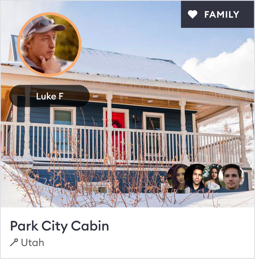 The family with the cabin
