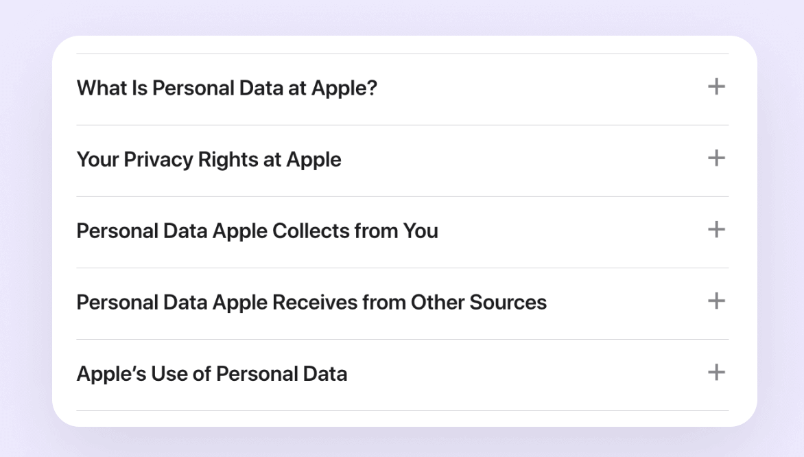 Apple's Privacy Policy