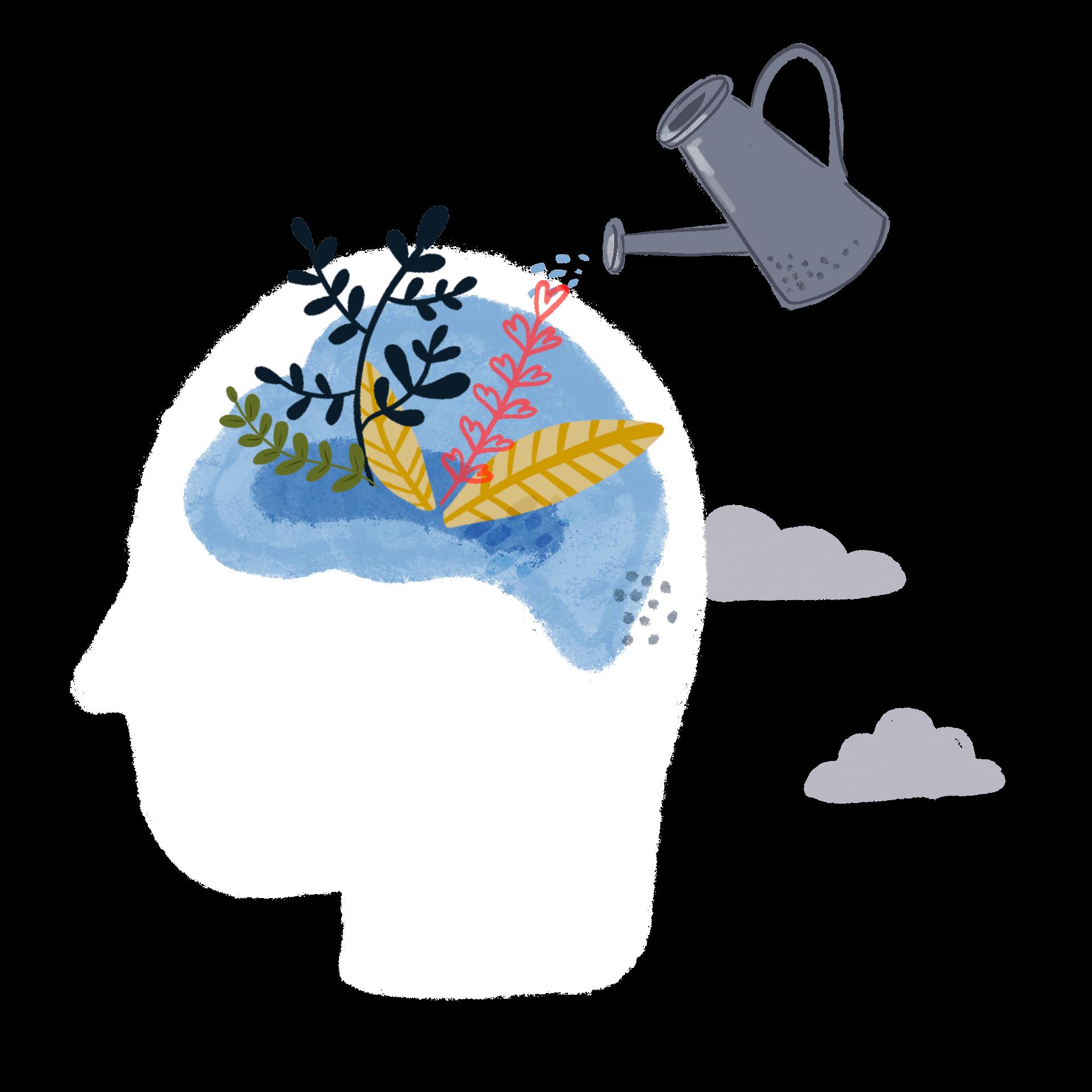 Deep thinking illustration