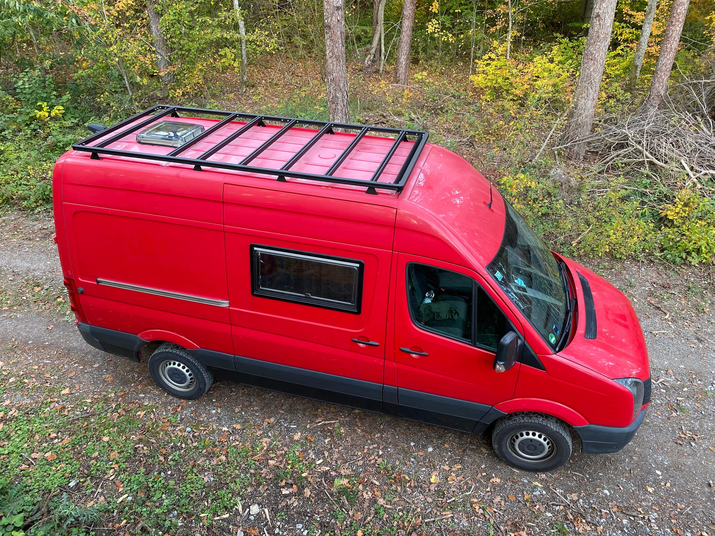 VW Crafter mit Dachträger
