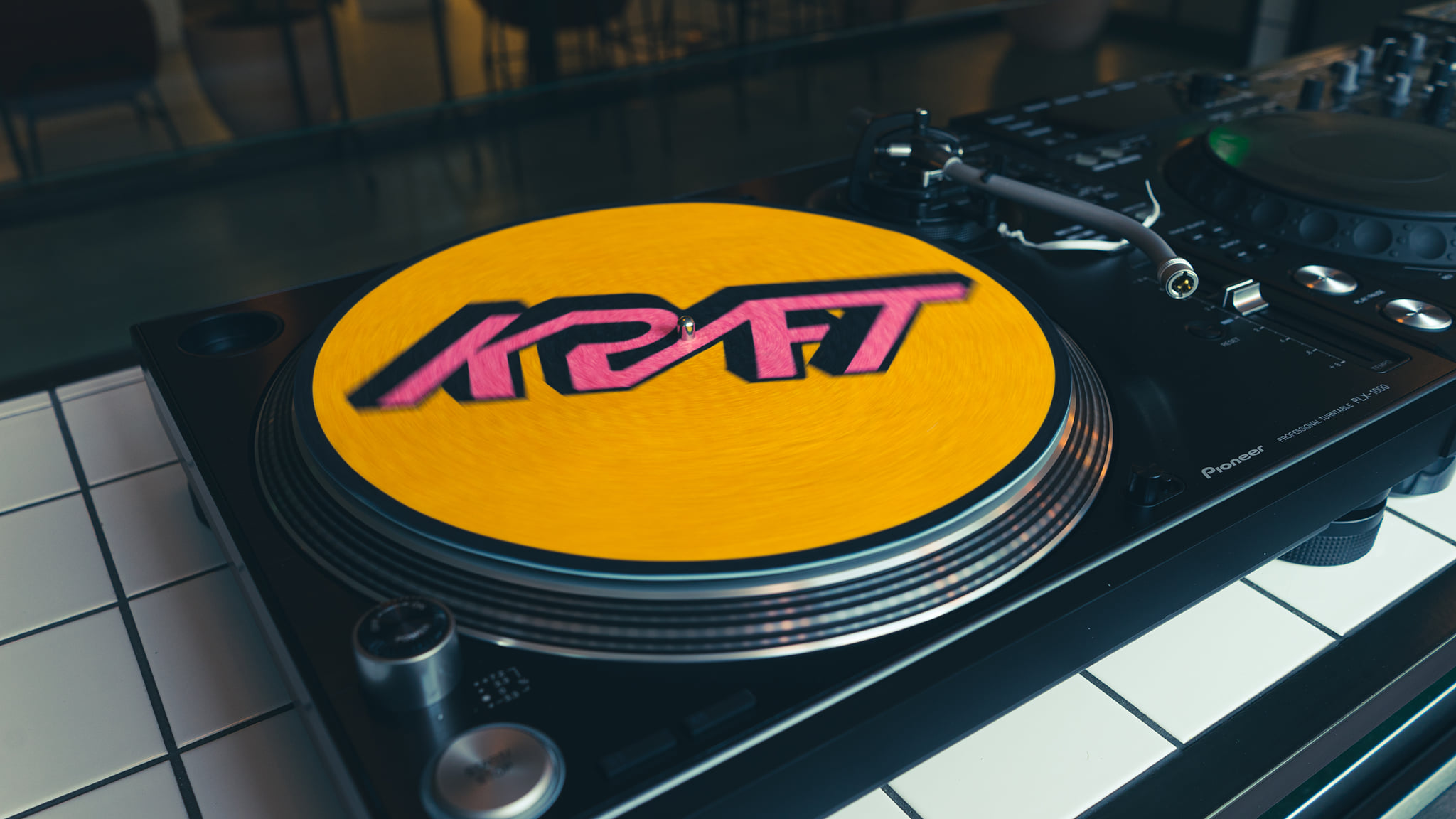 Kraft Dalston DJ decks