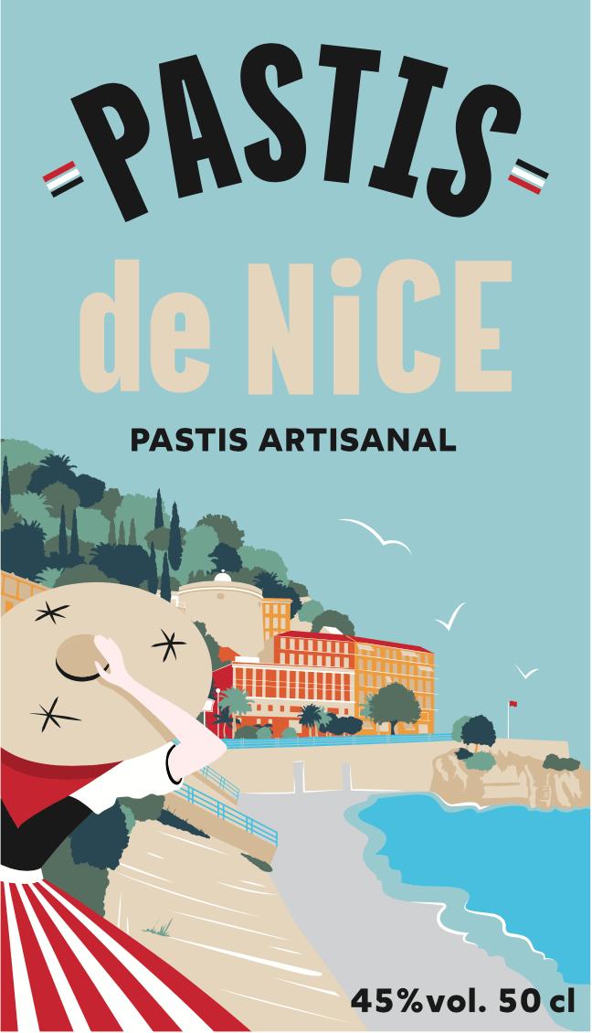 Dernière étiquette en date du Pastis de Nice