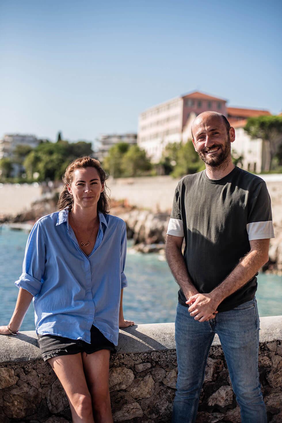 Portait de Charlotte Rambaut et Julien Lasalle, gérants de  Pastis de Nice