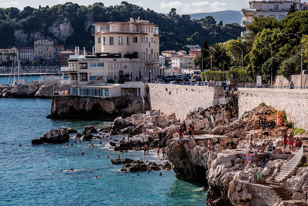 Photo du bord de mer de Nice, Coco beach