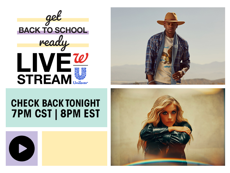 Get Back to School Ready Livestream with Walgreens® & Unilever® | Check Back Tonight 7PM CST | 8PM EST