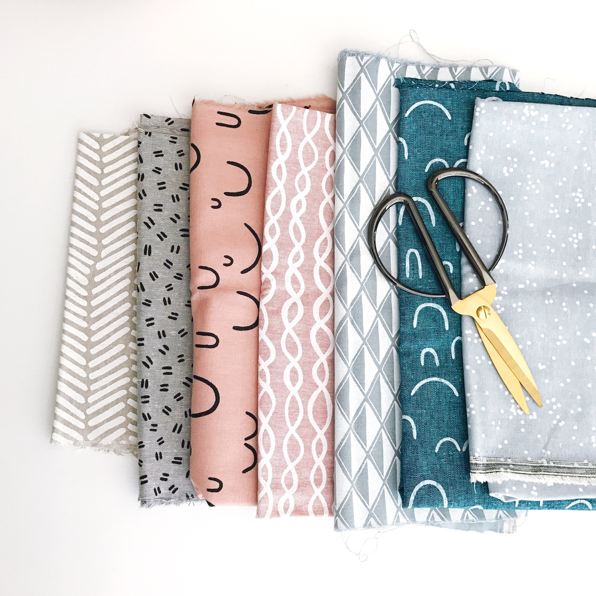 Several different pieces of fabric