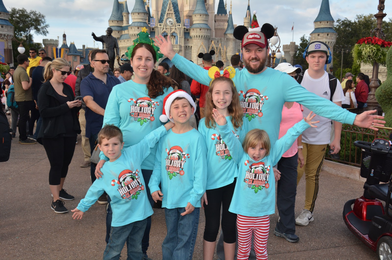 Photo of Peter's family at Disney