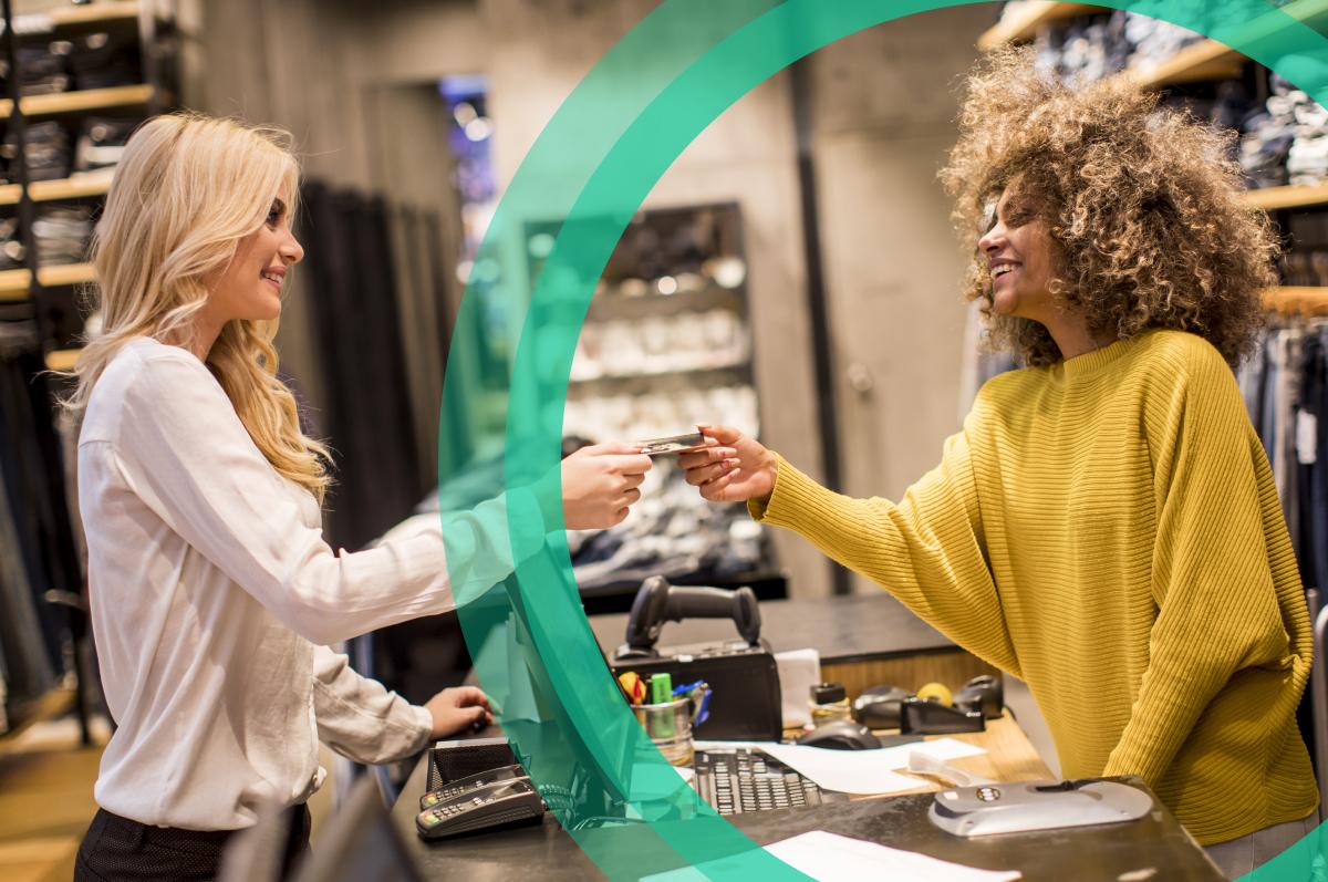 Customer service interaction at checkout