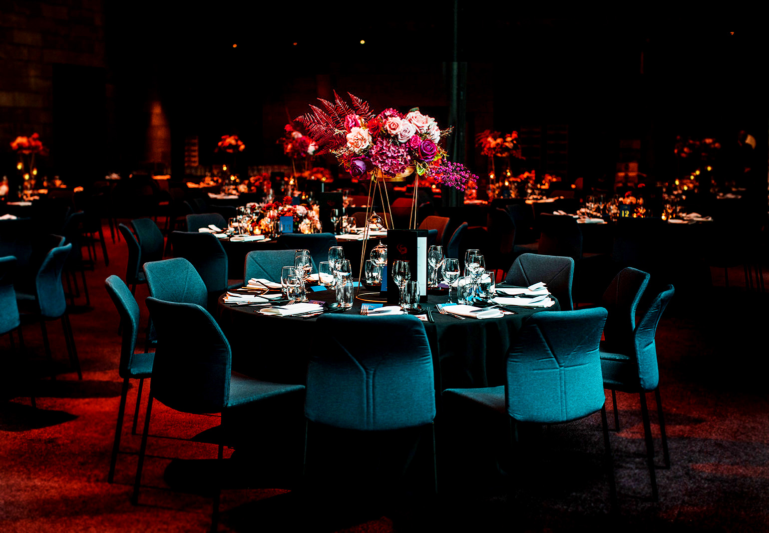 Table settings from D and H's wedding, hosted at NGV by JCAU Events