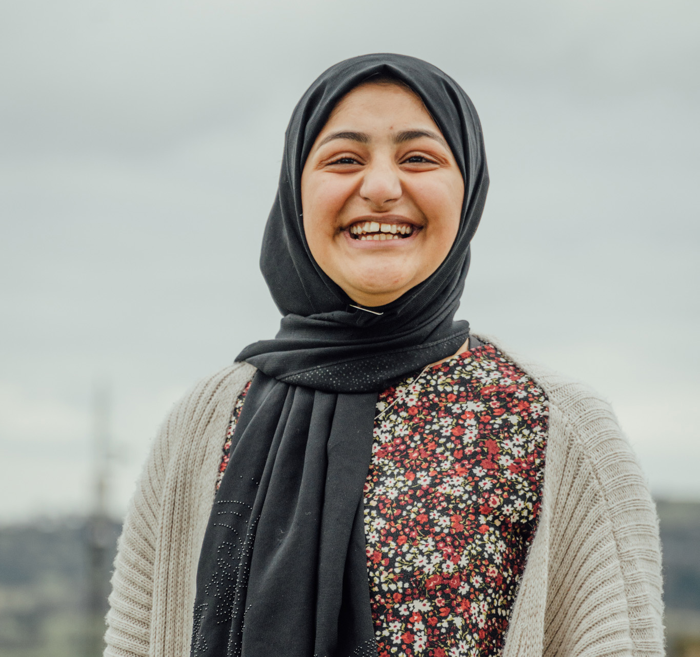 Football Beyond Borders participant in Hijab in Greater Manchester