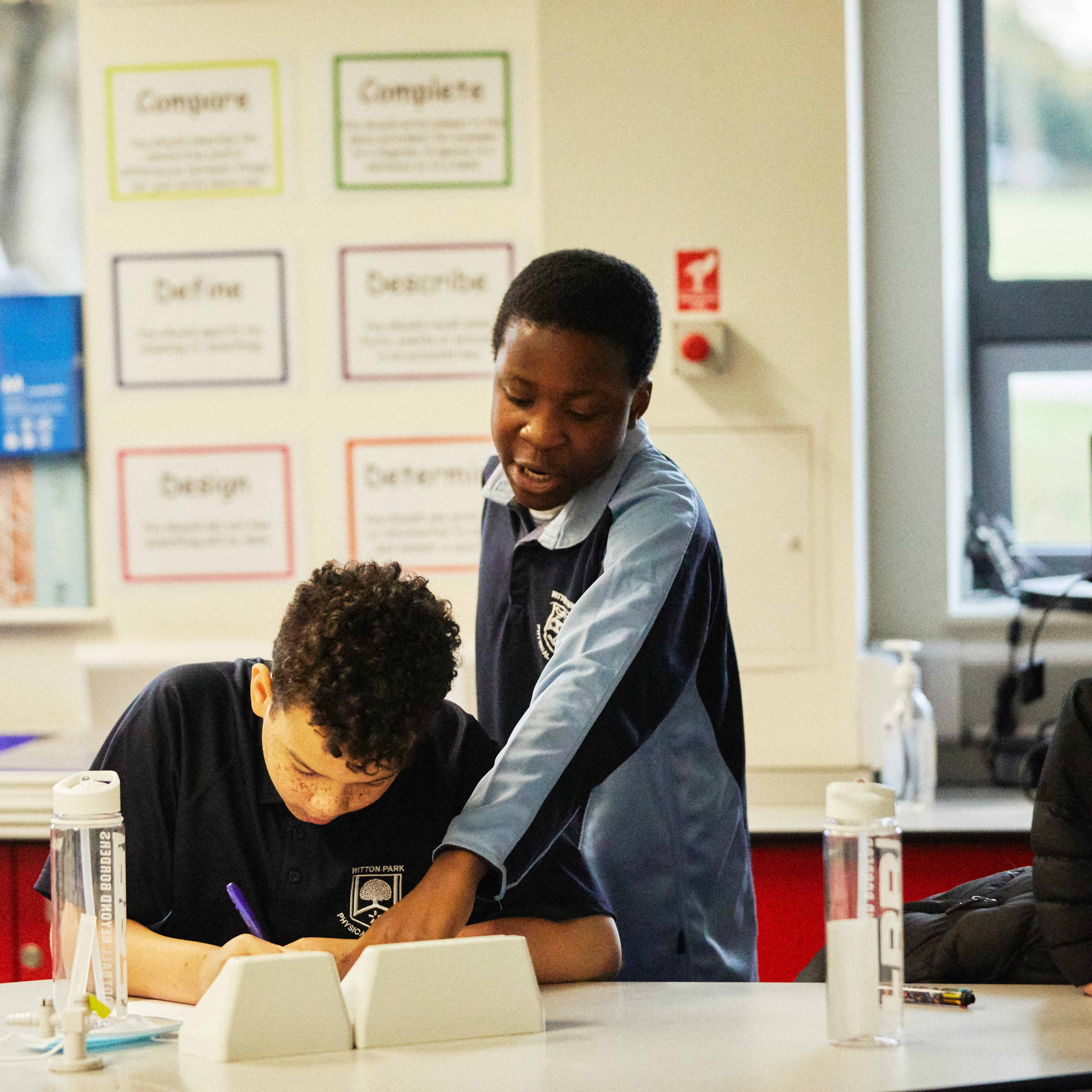 FBB students support each other in the classroom