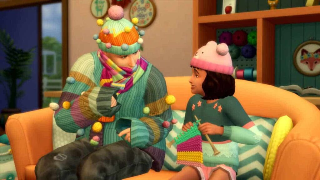 Sims 4 Nifty Knitting Adult Teaching Child