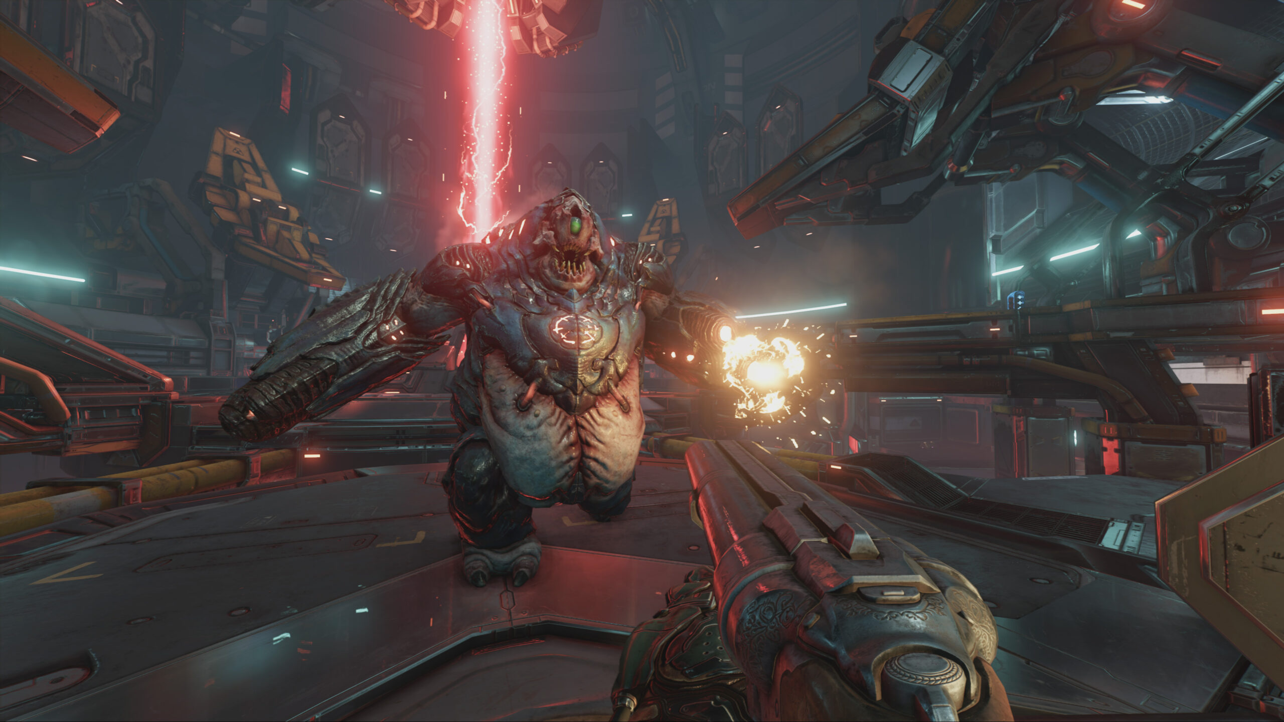 best game soundtracks - screenshot from doom of monster|game sountracks - screenshot of diamond city radio buiding in fallout 4