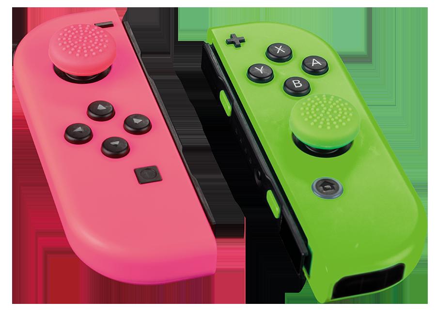 THUMB GRIPS Pink & Green