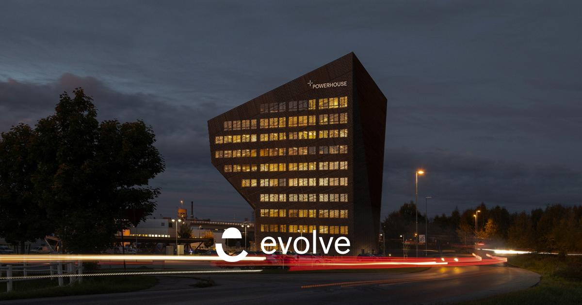Evolve, Porwerhouse, Porsgrunn, byggning, logo