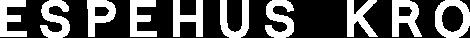 Espehus Kro word logo in white