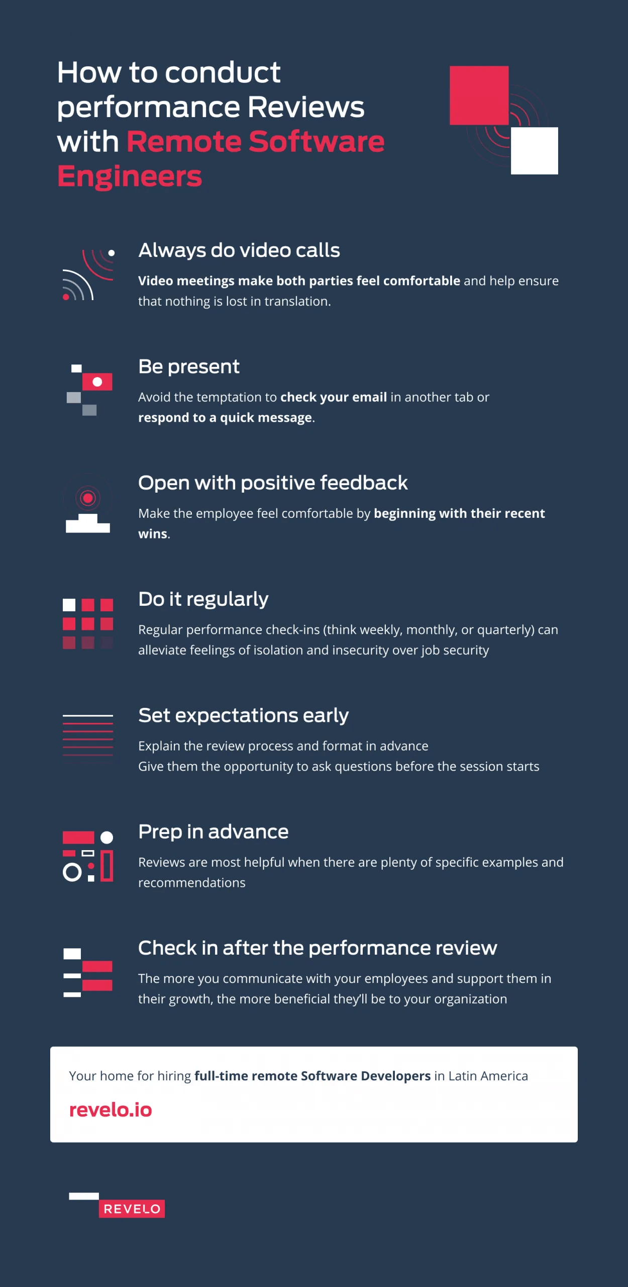 How to conduct performance reviews with remote software engineers