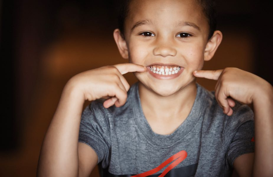 Photo of a pediatric patient smiling