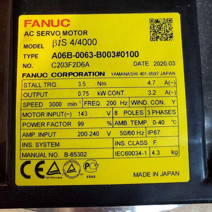 Fanuc AC Servo Motor For Sale near Muskegon