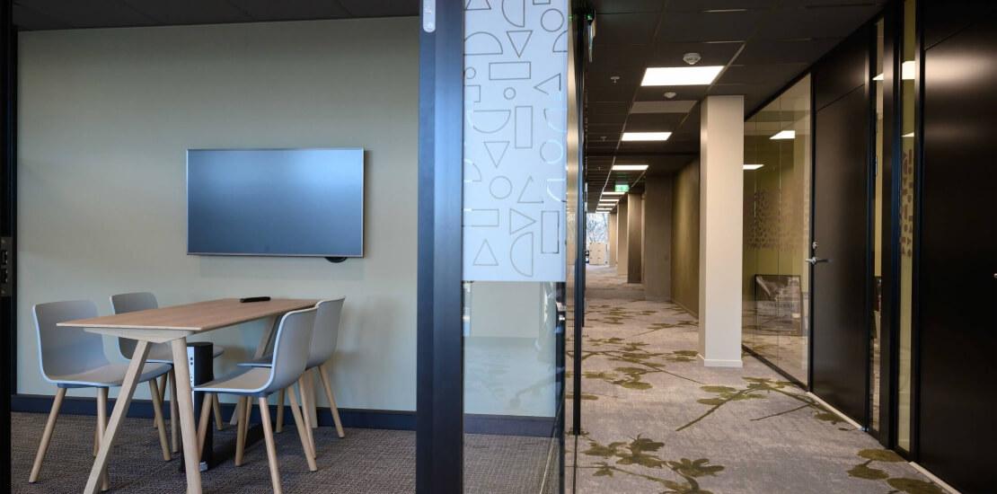 Evolve Porsgrunn | fleksibelt kontor, gang, møterom