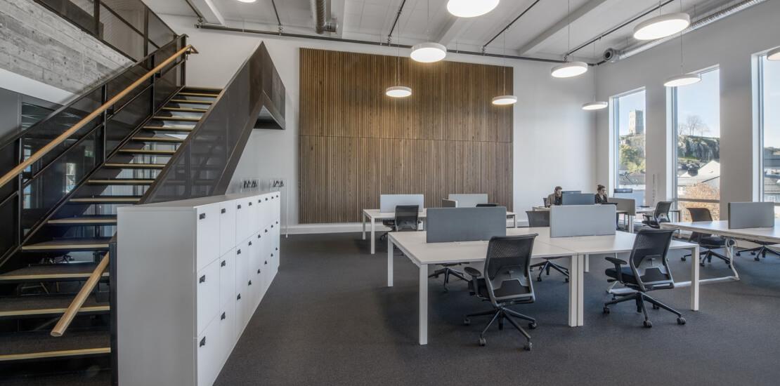 Evolve tønsberg | Fleksibelt kontor, trapp, åpent, moderne