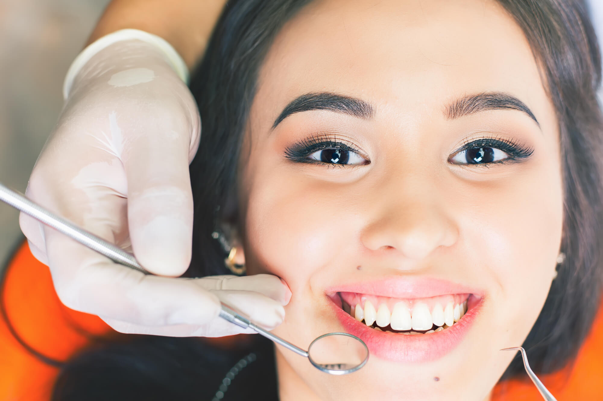 Smiling girl after Dental implants in everett wa.