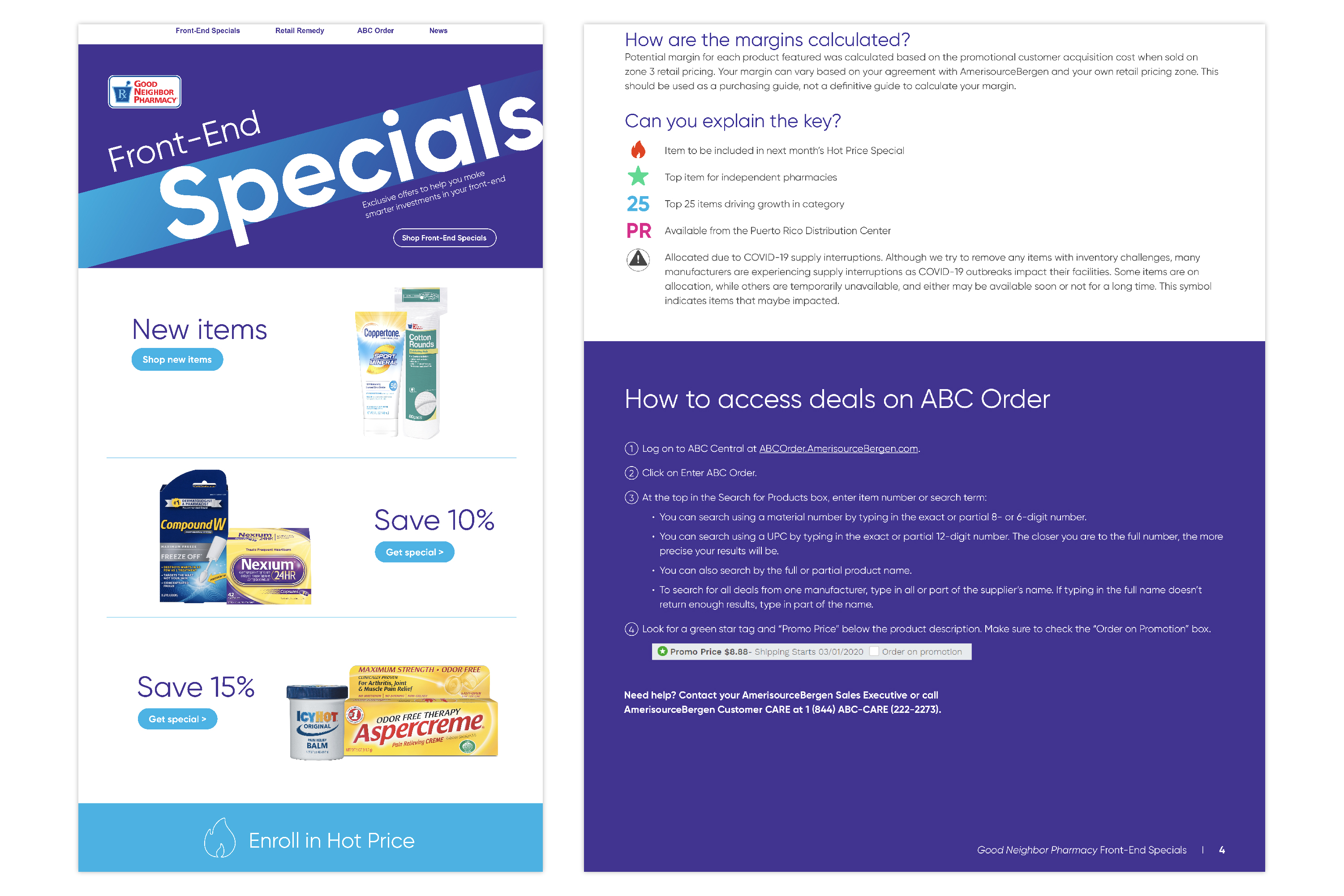 Good Neighbor Pharmacy Front-End Specials Email