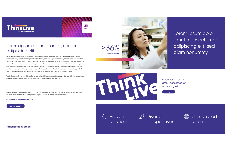 AmerisourceBergen ThinkLive Graphic Design and Art Direction