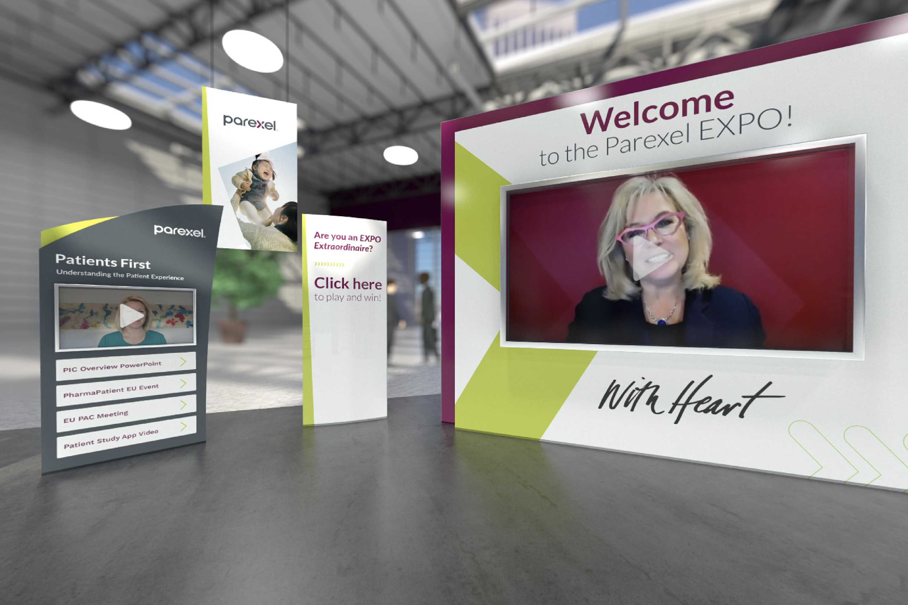 Parexel Global Leadership and Sales Summit Event 3D Virtual Booth