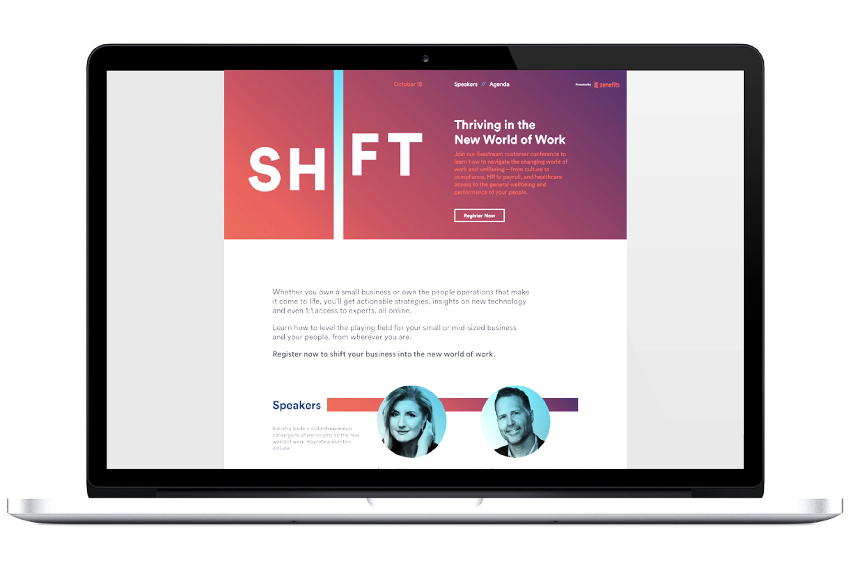 Zenefits Shift Event Website