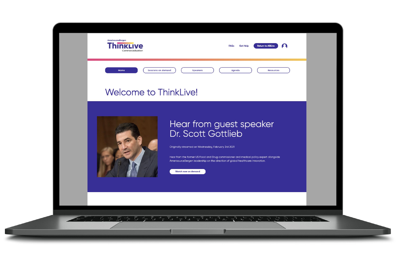 AmerisourceBergen ThinkLive Website Design and Development
