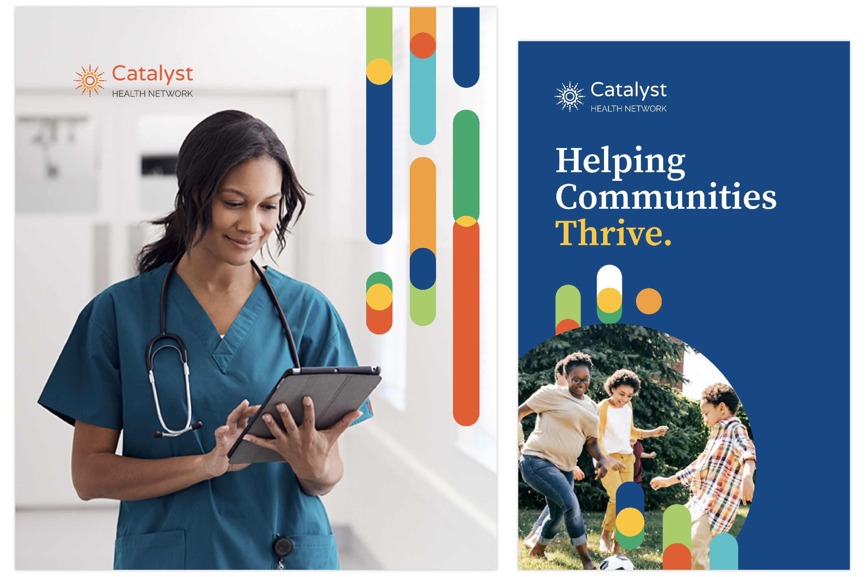 Catalyst Health Network graphic design and branding