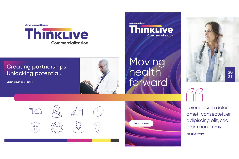 AmerisourceBergen ThinkLive Graphic Design Brand Board